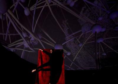 mensch und kunstfigur im kugeltheater